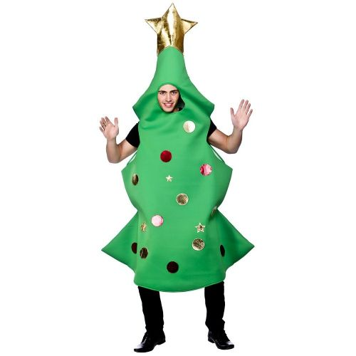 Adult Unisex Christmas Tree Christmas Costume for Nativity Panto Fancy Dress Christmas Tree